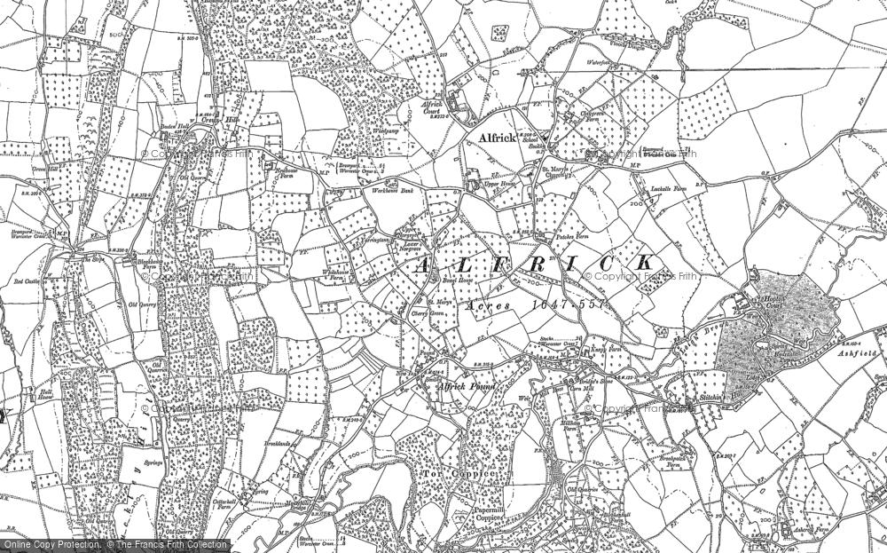 Map of Alfrick Pound, 1903