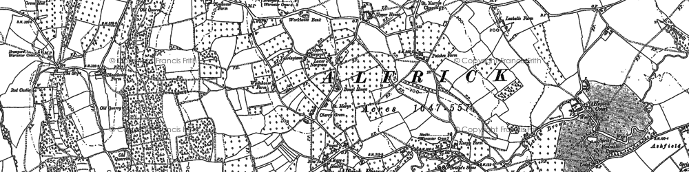 Old map of Alfrick Pound in 1903