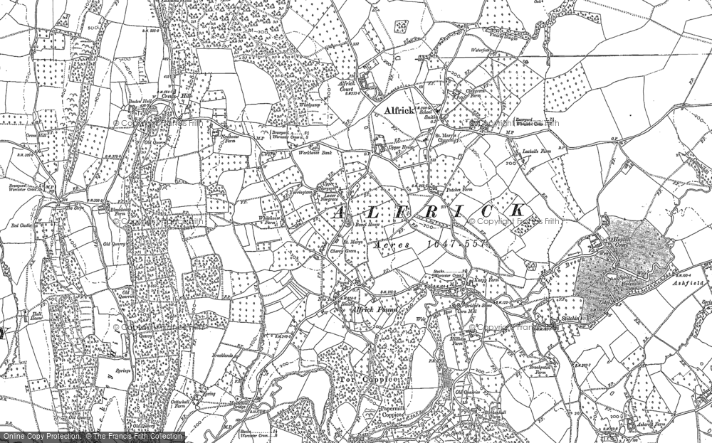 Old Map of Historic Map covering Ashcroft Ho in 1903