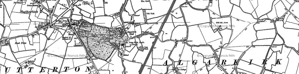 Old map of Algarkirk in 1886
