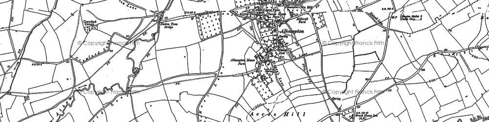 Old map of Alhampton in 1884