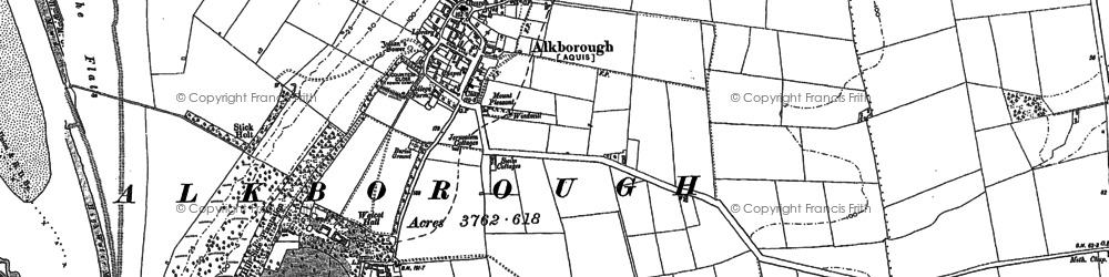 Old map of Alkborough in 1904