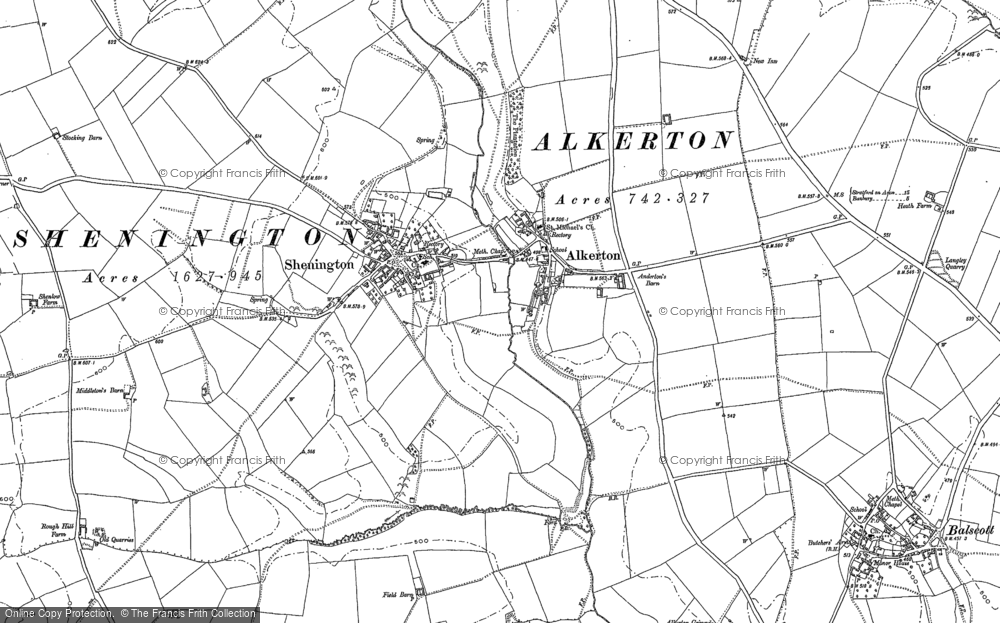 Old Map of Alkerton, 1899 in 1899