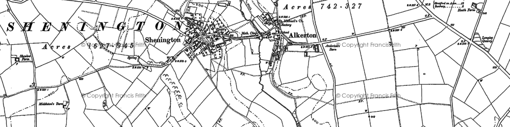 Old map of Alkerton in 1899