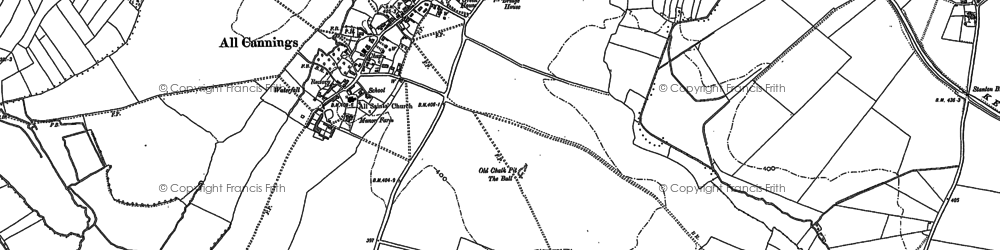 Old map of All Cannings Br in 1899