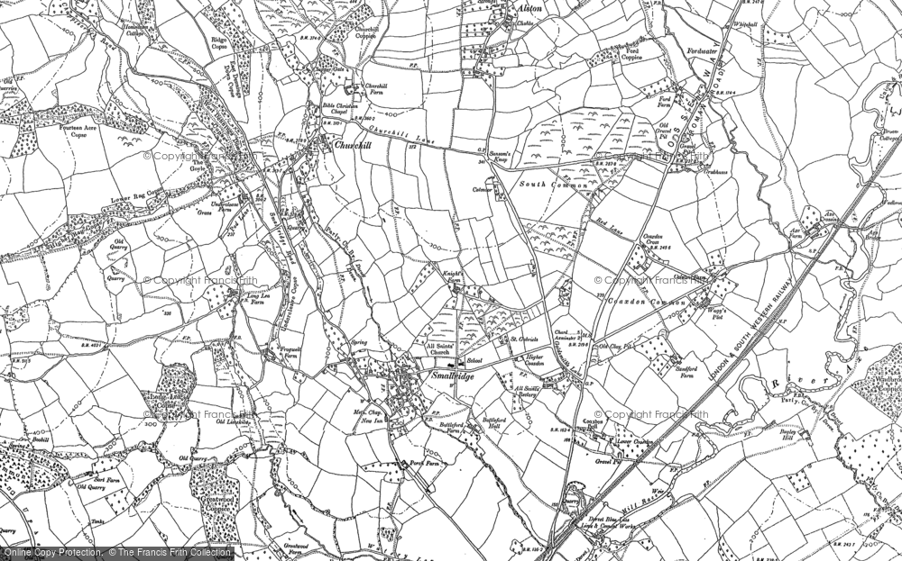 Old Map of All Saints, 1903 in 1903