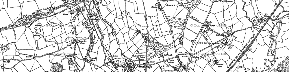 Old map of All Saints in 1903