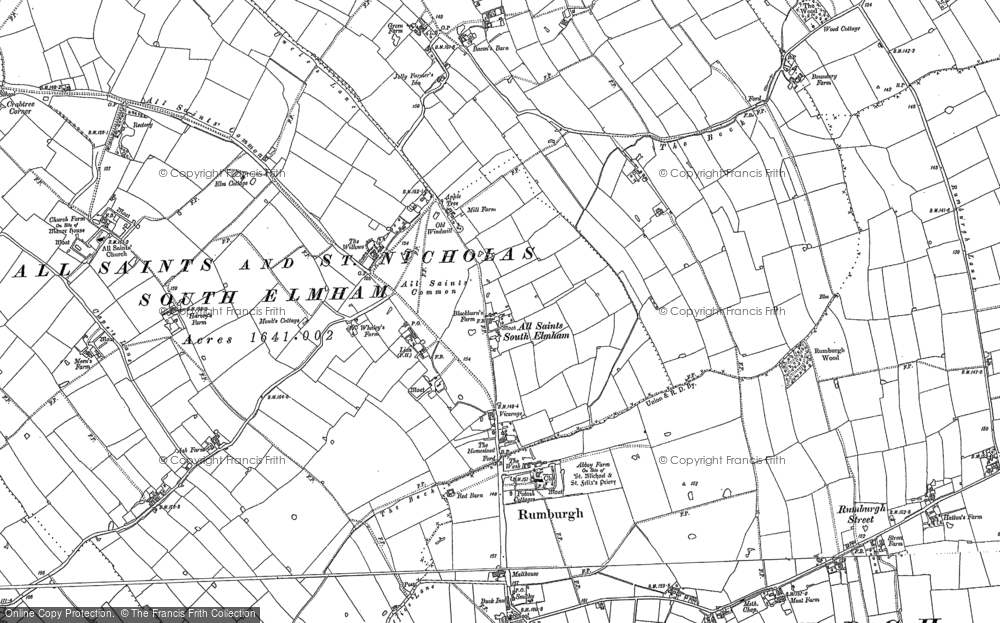 Old Map of All Saints South Elmham, 1882 - 1903 in 1882
