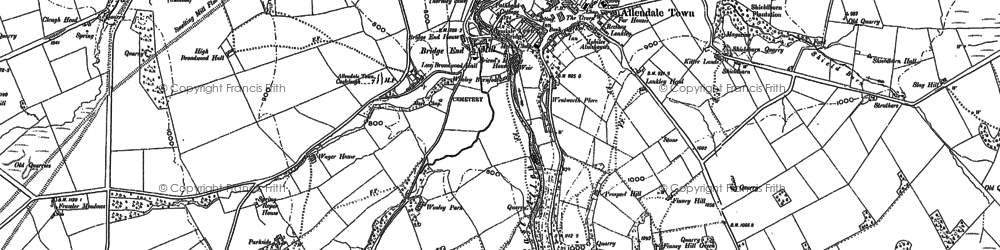 Old map of Allendale Town in 1895