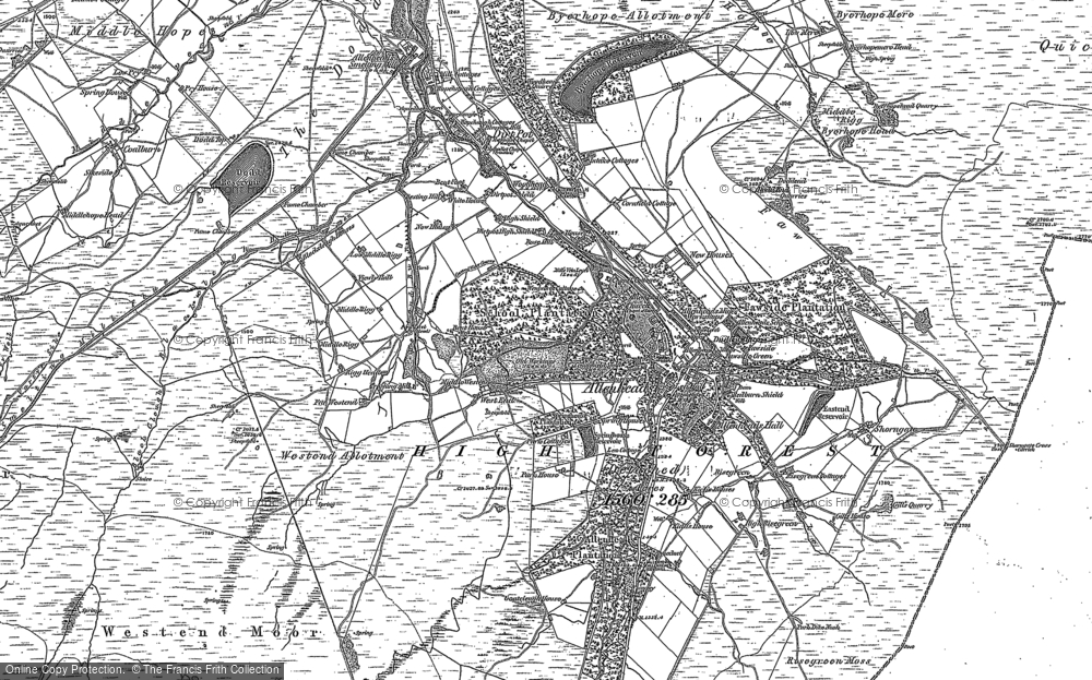 Old Map of Allenheads, 1895 in 1895
