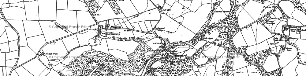 Old map of Allensford in 1895