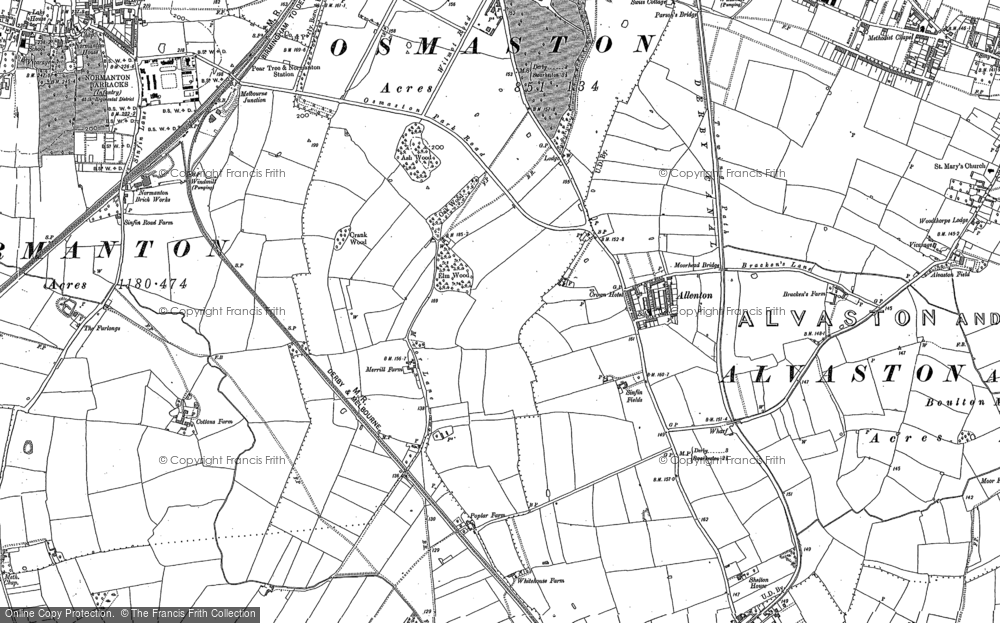Old Map of Allenton, 1899 in 1899