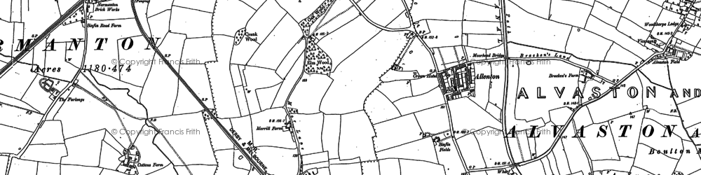 Old map of Osmaston in 1899