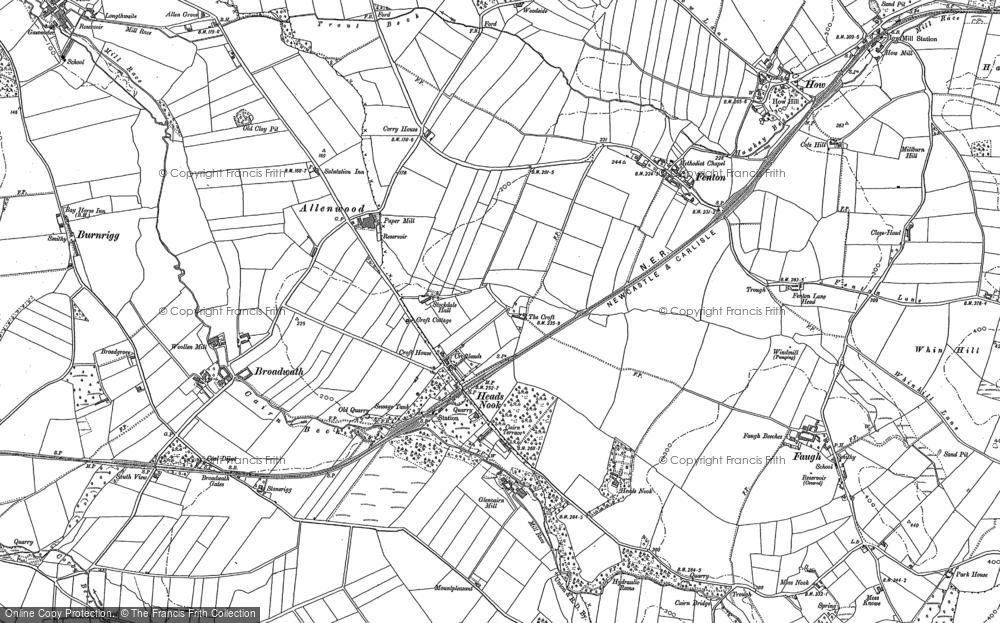 Old Map of Allenwood, 1899 in 1899