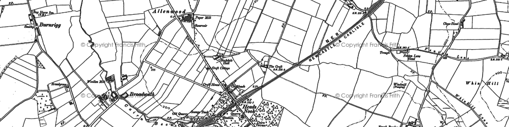 Old map of Allenwood in 1899