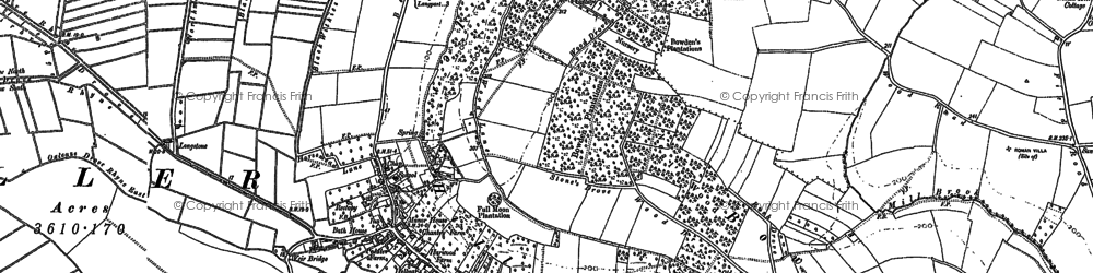 Old map of Aller in 1885