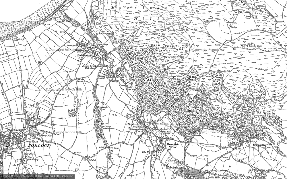 Old Map of Allerford, 1902 in 1902