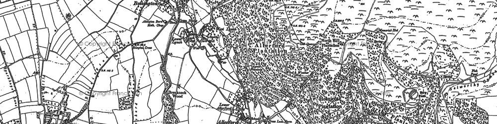 Old map of Allerford in 1902