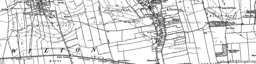 Old map of Allerston Partings in 1889