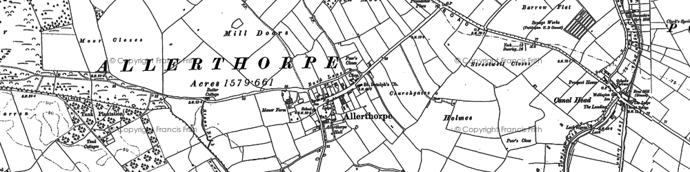 Old map of Allerthorpe in 1890