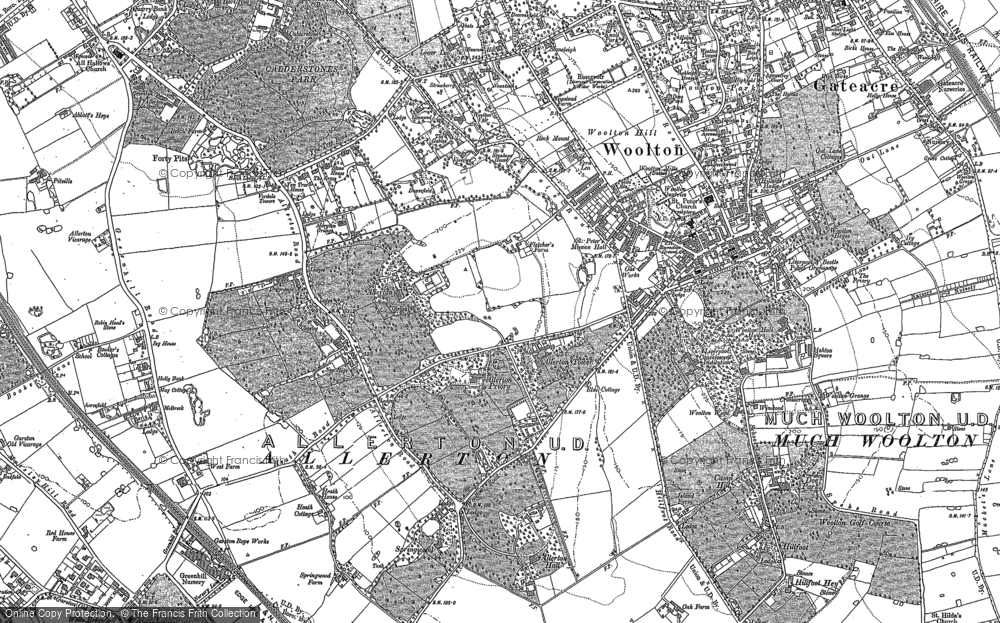 Old Map of Allerton, 1904 - 1905 in 1904