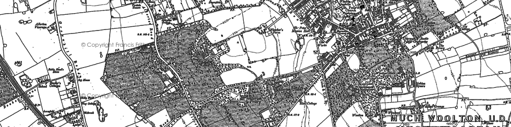 Old map of Allerton in 1904