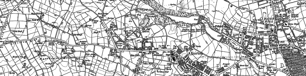 Old map of Allerton in 1906