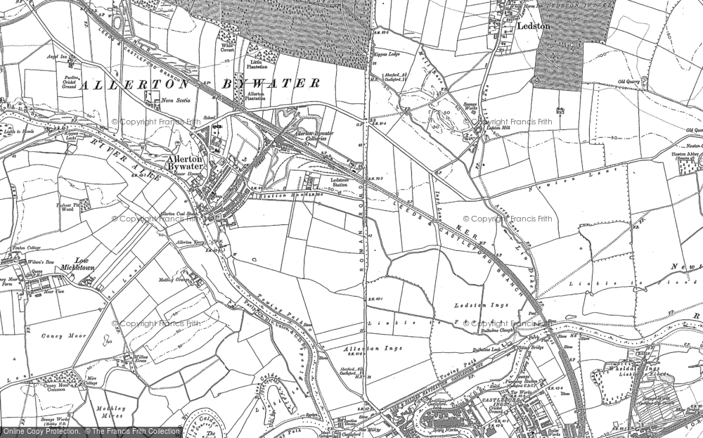 Old Map of Allerton Bywater, 1890 in 1890