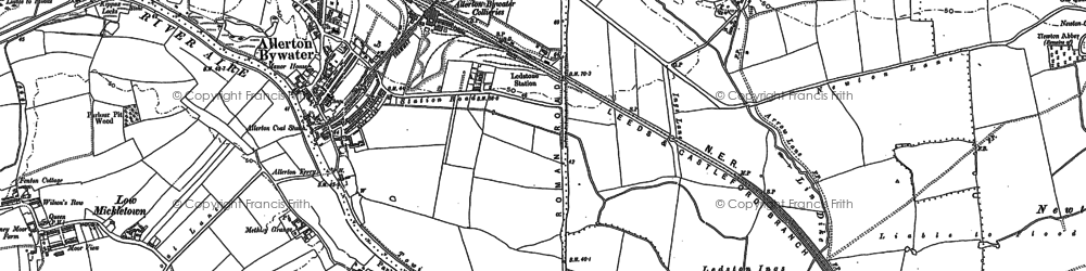 Old map of Allerton Bywater in 1890