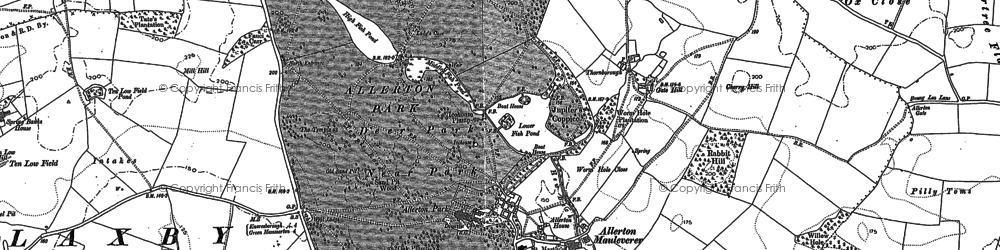 Old map of Allerton Park in 1892