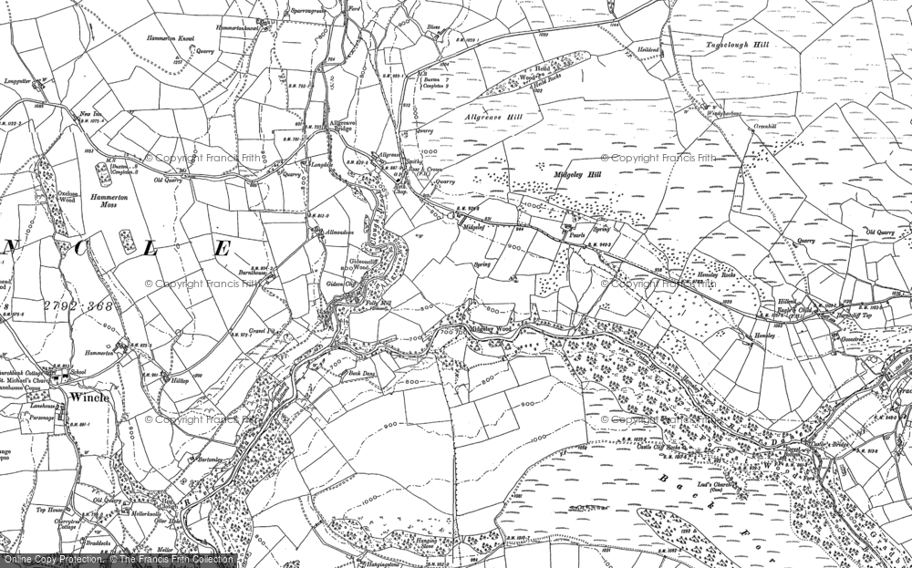 Old Map of Allgreave, 1907 in 1907