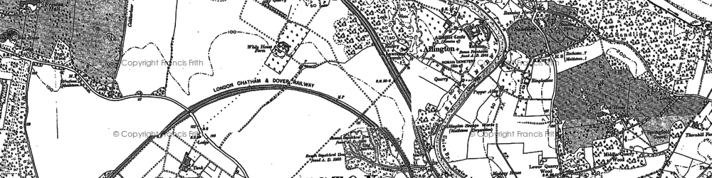 Old map of Allington in 1895