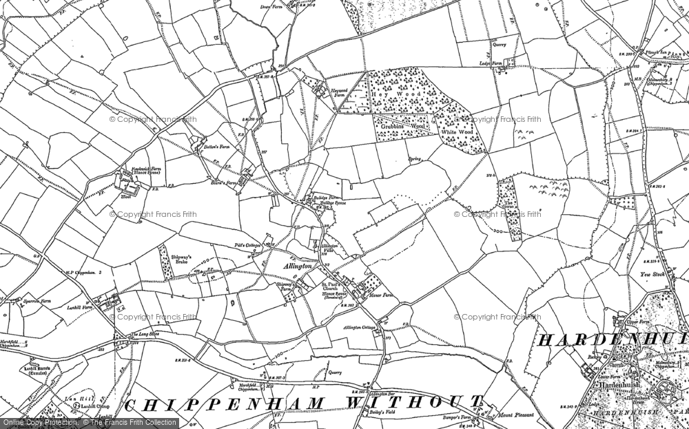 Old Map of Allington, 1899 - 1920 in 1899