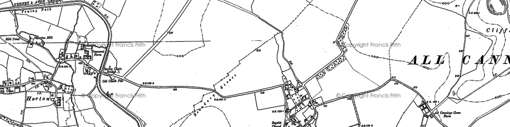 Old map of Allington in 1899