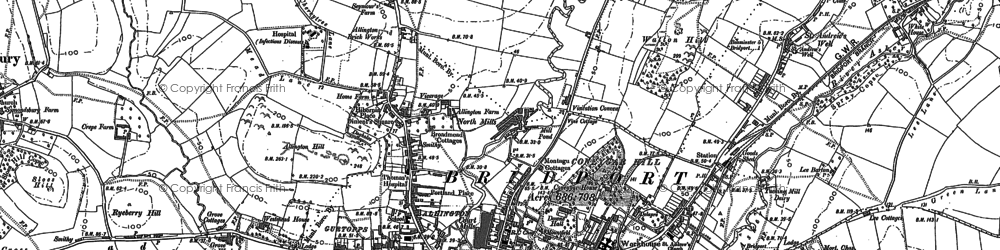 Old map of Allington in 1901
