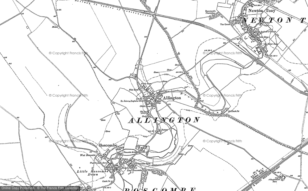 Old Map of Allington, 1923 in 1923