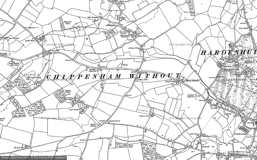 Old Map of Allington Bar, 1899 - 1919 in 1899