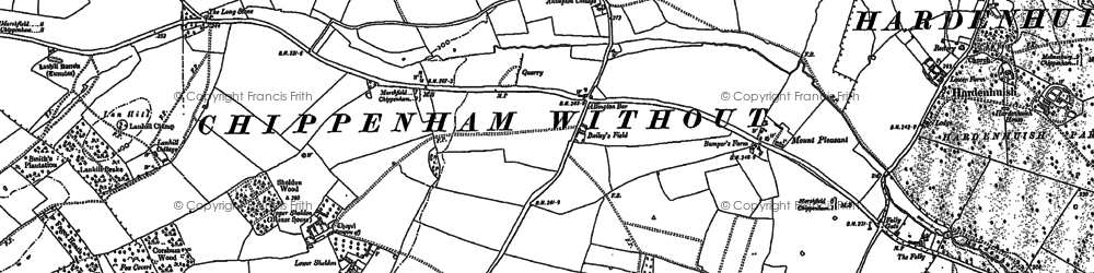 Old map of Allington Bar in 1899