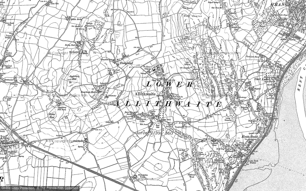 Old Map of Allithwaite, 1847 - 1848 in 1847