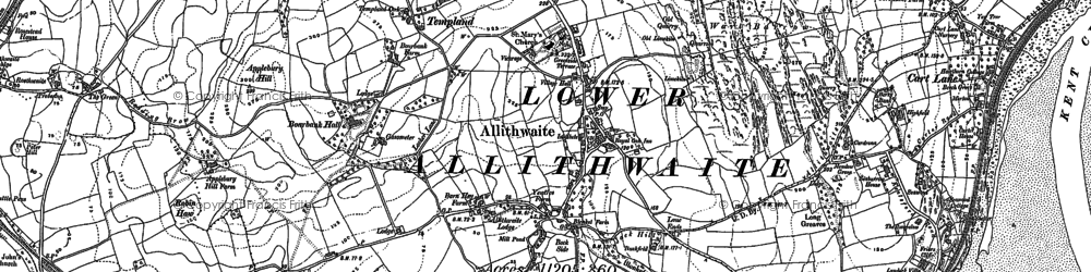 Old map of Allithwaite in 1847