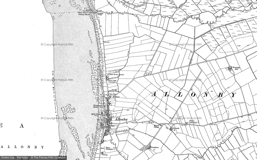 Old Map of Allonby, 1923 in 1923