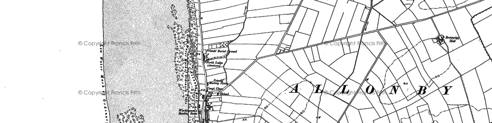 Old map of Allonby in 1923