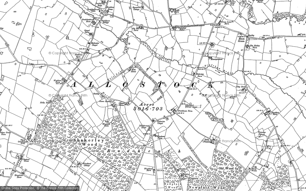 Map of Allostock, 1897