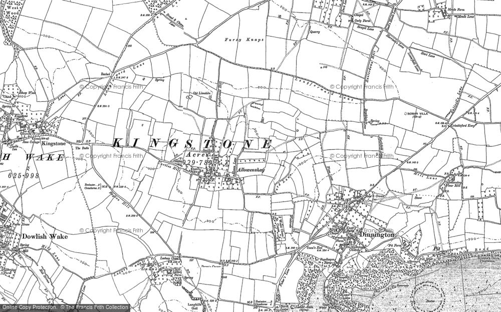 Old Map of Allowenshay, 1886 in 1886