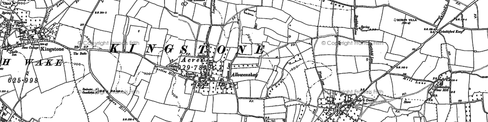 Old map of Allowenshay in 1886