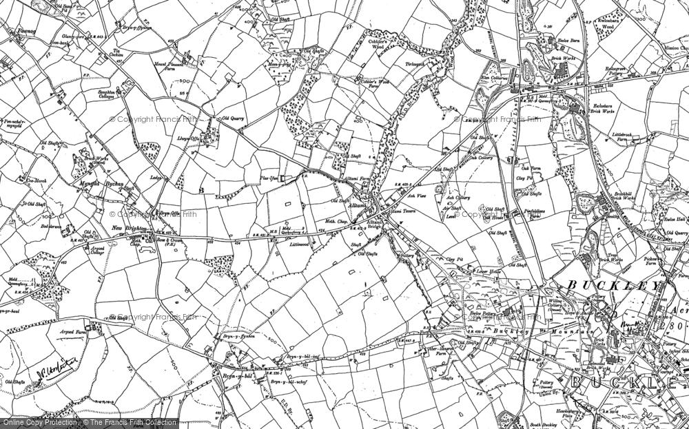 Old Map of Alltami, 1898 - 1910 in 1898