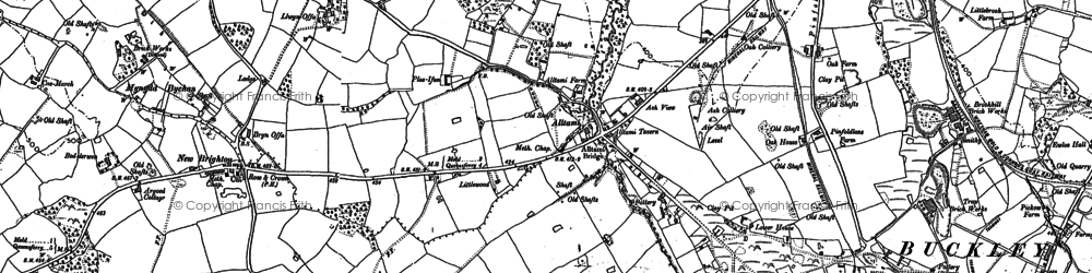 Old map of Tirlasgoch in 1898