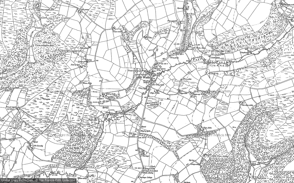 Old Map of Alltwalis, 1876 - 1887 in 1876