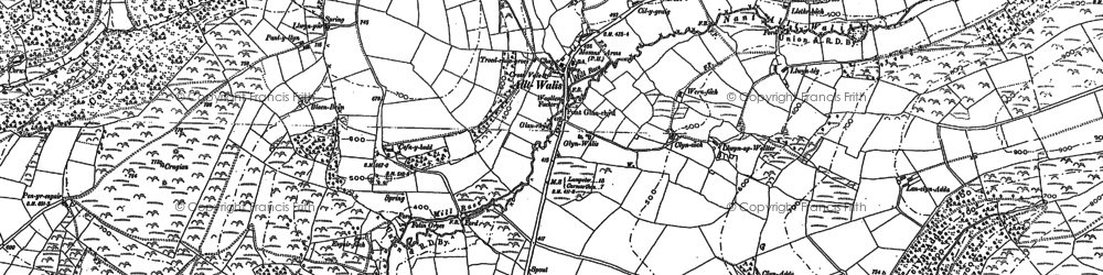 Old map of Alltwalis in 1876