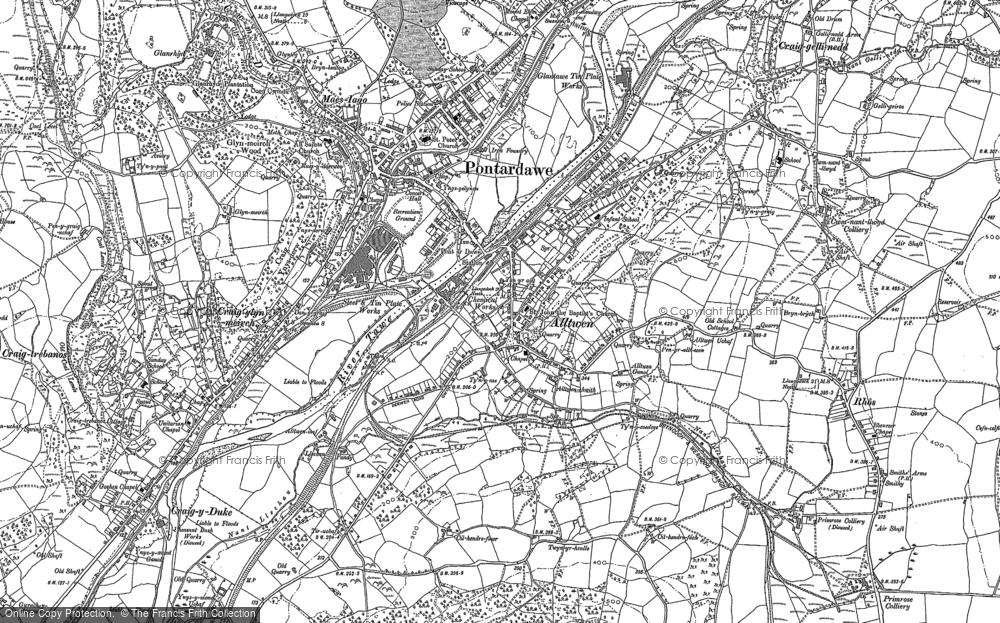 Old Map of Alltwen, 1897 in 1897